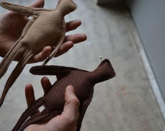 Wool Felt Primitive Voodoo Doll