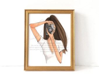 Focus (Fashion Illustration Print)