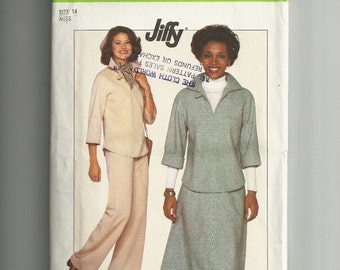 Vintage Simplicity Pullover Top , Pants and Skirt Pattern 8169