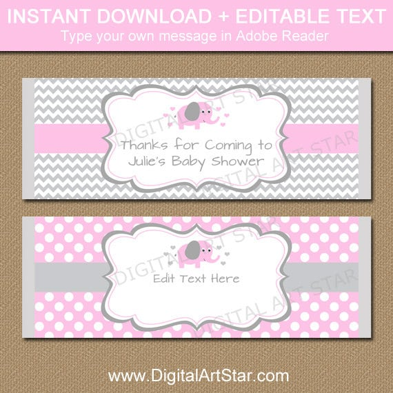 Image Of Baby Shower Candy Bar Wrapper Template Free Printable ...