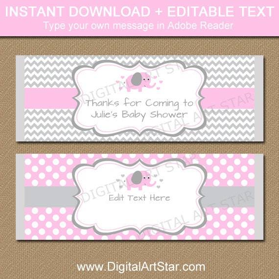 This is a picture of Persnickety Free Printable Baby Shower Candy Bar Wrappers