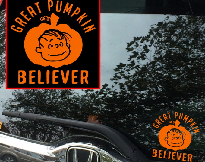 Great Pumpkin Believer decal
