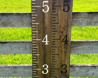 Growth chart ruler / wooden growth chart / kids growth chart / Hand painted, homemade giant rulers / measuring sticks / Kids Nursery