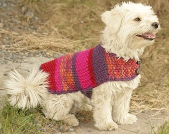 Dog crochet handmade sweater / coat / vest (soft wool) - sizes XS - S - M