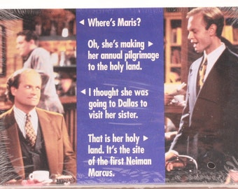 Frasier Television Show Greeting Card. 1 Single Card with Envelope.