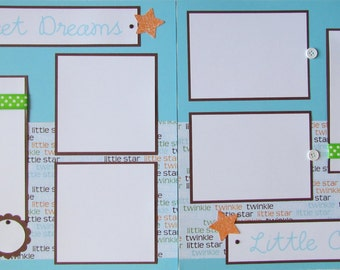 BaBy BoY Scrapbook Pages - 12x12 Layout -- SWEET DREAMS LittLe ONE -- first year album, 1st year layouts, scrapbooking, sleeping, napping