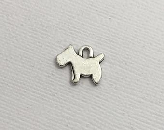 Dog Charm x 5pc Silver Pendant Doggie Puppy Canine Pet #250