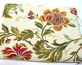 Woven Floral Fabric Traditional Decor Fabric