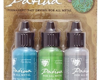 Vintaj Patina-Metal Paint-Patina Paint-Metal Patina-Santa Fe Market NEW COLOR Vintaj Paint Deep Turquoise Malachite Pyrite *