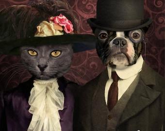 DOG PORTRAIT - Custom Dog Portrait, Custom Cat Portrait - Victorian