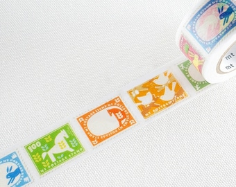 MT ex 2018 Japanese Washi Tape / 25mm Stamps for art journaling, packaging, snail mail, labeling
