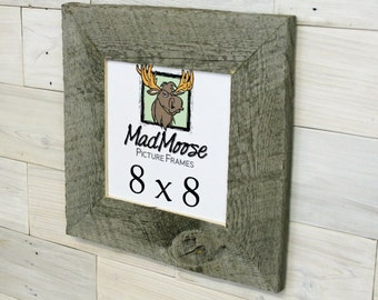 "8x8 BarnWood [Thin x 3""] Picture Frame"