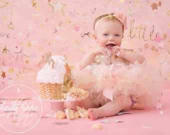 Birthday Outfit | Birthday Outfits Girl | 1st Birthday Outfit | First Birthday Outfit | Cake Smash Outfits | Pink Gold Dress | Baby Girl