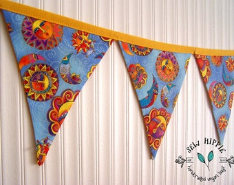 Party Flag Bunting, Party Flags, Celestial Dreams, Baby Bunting, Party Decoration, Wall Decor, Market Stall Flags