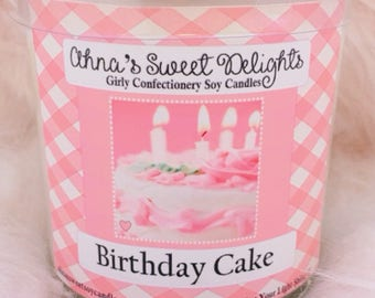 Birthday Cake Girly Confectionery Soy Candle