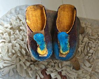 House slippers, Women wool felt slippers, felted house shoes, Felt slippers, Eco slippers, Boho style slippers, Bedroom slippers