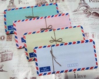 "Set of 50 airmail envelopes - 9.25"" x 4.25"""