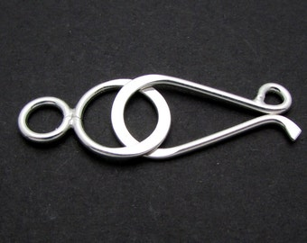 1 Set, 40mm, Sterling Silver Clasp