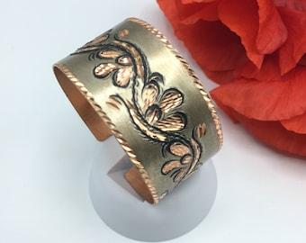 Mothers day gift, Handmade Copper Bracelet, Hand Hammered Copper Bracelet, Copper bracelet, Hand crafted bracelet, Rustic Copper Bracelet