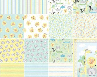 Jungle Jamboree Fat Quarter Bundle, 20 Pieces, Kanvas Collection, Benartex, Precut Fabric, Quilt Fabric, Cotton Fabric