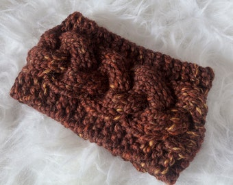 Sequoia Braided Cable Ear Warmer Headband