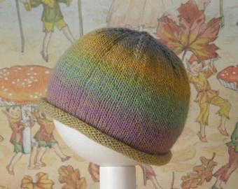 Knitted Baby Beanie Pastel Rainbow