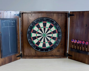 Merveilleux Dartboard Set   Rustic Barndoor Dartboard Cabinet | Fun Christmas Gifts For  Him |