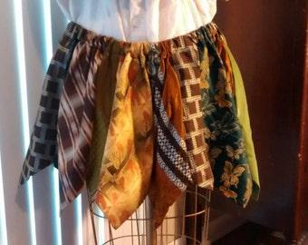 """Vintage Necktie Short Skirt Plus Size 38""""-60"""" Waist"""