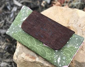 Slimline Wallet in Tula Pink Nightshade + cork   Wallet   Billfold   Card Holder