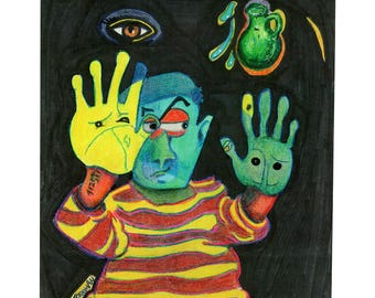 """Hands With Eyes - 11""""x14"""" (Digital Download)"""