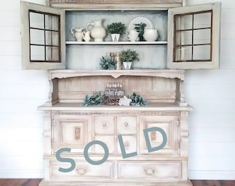 SOLD!***French Country Buffet with Hutch/ China Cabinet