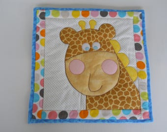 Giraffe quilted wallhanging