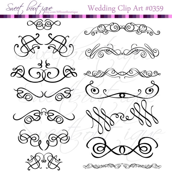 Calligraphy clip art clipart diy wedding invitation designs calligraphy clip art clipart diy wedding invitation designs scrapbook embellishment text dividers digital frame black 0359 from msweetboutique on etsy stopboris Images