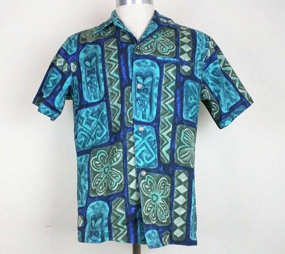 1960s Shirt / S / Hawaiian / Floral / Psychedelic / Terry Cloth / Beach Shirt / Pool Shirt / 1960s Hawaiian Shirt / Mod / Vintage Menswear GiDka