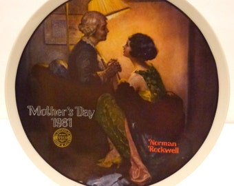 After the Dance-Norman Rockwell-Knowles Collector Plate-Mother's Day 1981