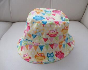 Yellow Owls Bucket Hat