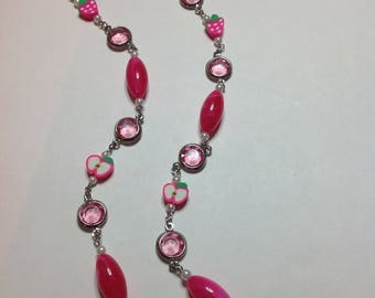 PINK FRUIT NECKLACE