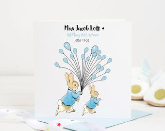 New Baby Card Peter Rabbit