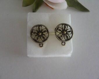 Earring Stud pattern hearts