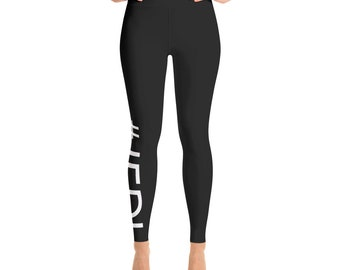 JFDI Black and White Yoga Leggings