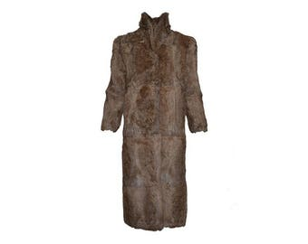 Rabbit Fur Coat - Women's Size S