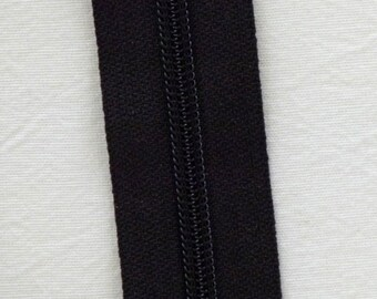 zipper 5 mm zipper chain black 5 yards