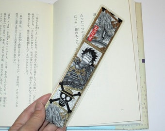 One piece Bookmark for books / Japanese Anime bookmark / laminated Bookmark
