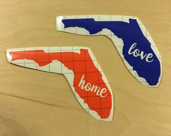 Florida - State Love Decal - Vinyl Decal