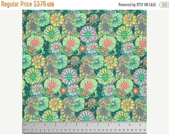 Spring Cleaning Daisy Shine in Citrus Fabric from the True Colors Collection by Amy Butler - Half Yard