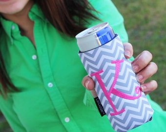 Personalized CAN CUDDLER ®Custom Can Cuddler®Select Can, Slim Can, Water Bottle, 8 oz, Beer-Monogram Can Coolers