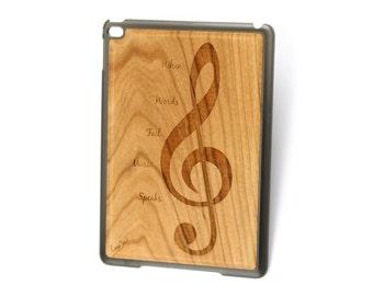 iPad Air case, iPad Mini case, iPad Mini 2 case, iPad 3 case, iPad engraved case, custom iPad case,Music wood engraved case