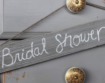 Rustic Bridal Shower Sign- Hand Painted