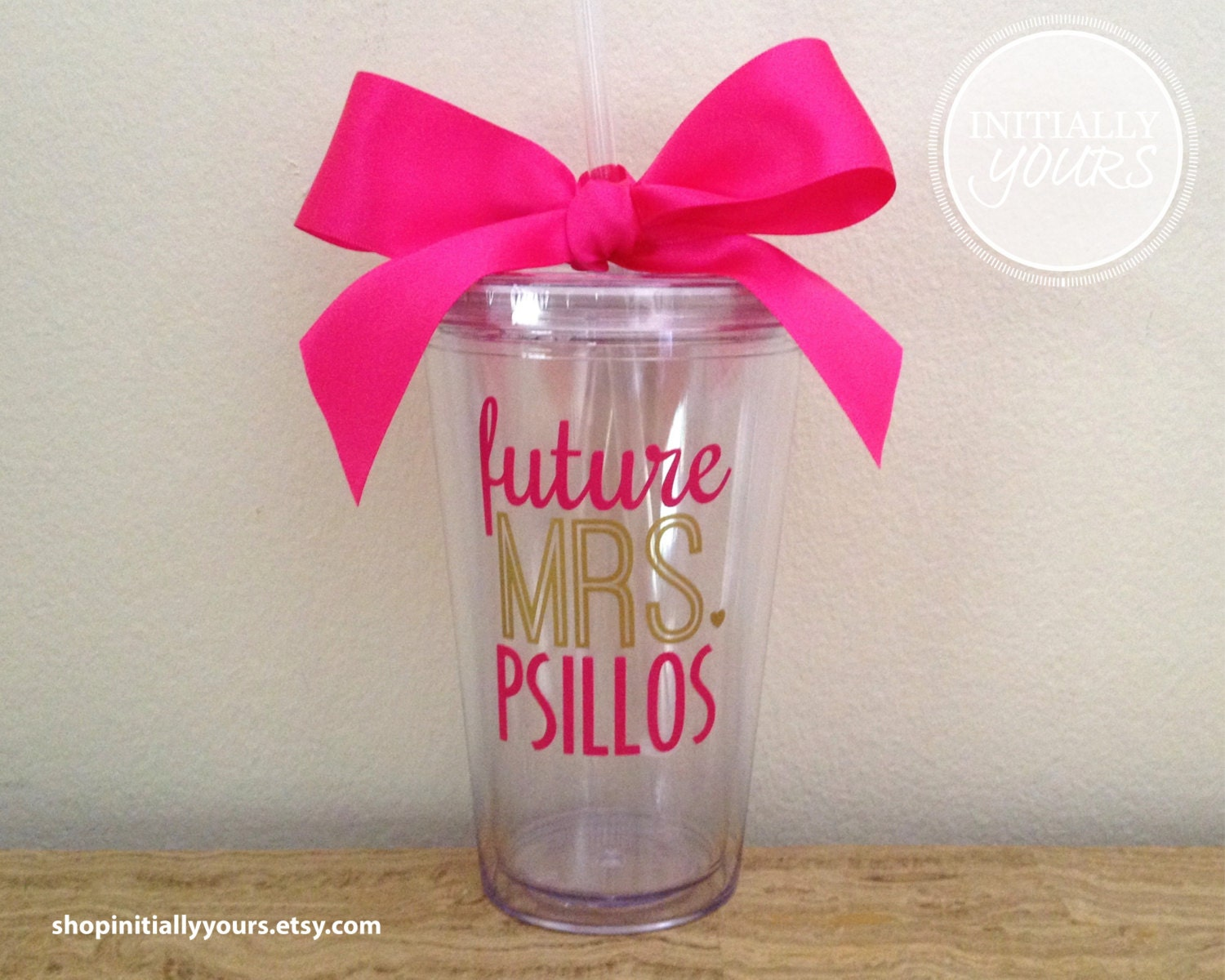 Personalized Future Mrs Tumbler Engagement Gift Bride-to-Be