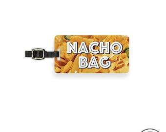 Luggage Tag Nacho Bag Funny Food Metal Luggage Tag  With Printed Custom Info On Back, Single Tag